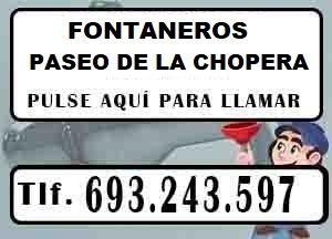 Fontaneros Paseo de la Chopera Madrid Urgentes