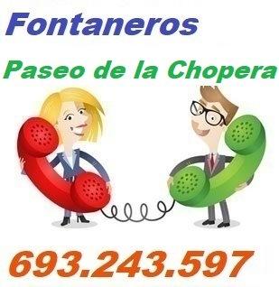 Telefono de la empresa fontaneros Paseo de la Chopera